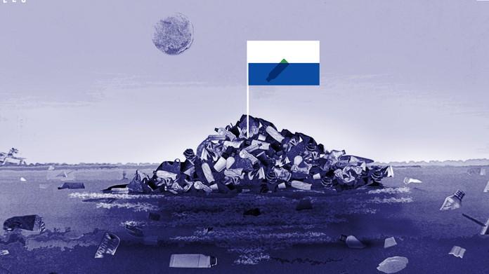 Bayrağı, Pasaportu ve Para Birimi Olan Çöpten Ada